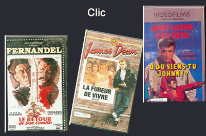 Cassettes VHS Comedie