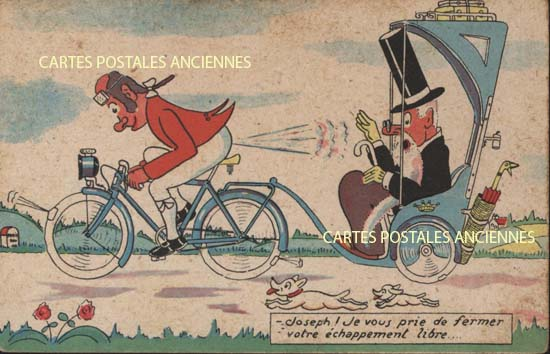 Cartes Postales Anciennes Humour Fantaisie
