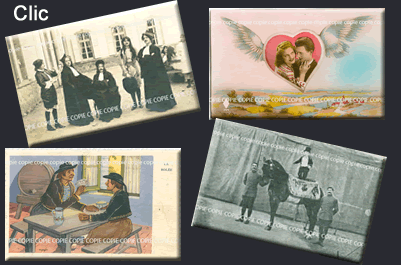 Cartes Postales Anciennes Personnages Fantaisies