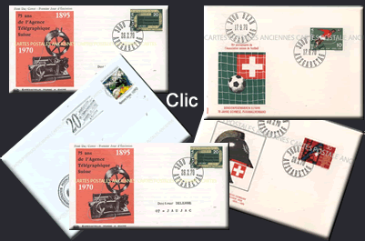Collection philatélie de timbres de la Suisse